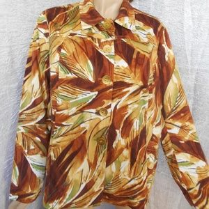 CHICO'S Button Down Jacket Sz 3/XL